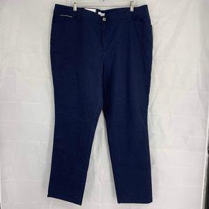 Charter Club Size 18W Dark Blue Slim Leg Jeans